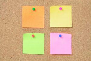 12246467 - sticky notes on cork board