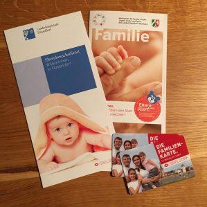 Infomaterial vom Elternbesuchsdienst Düsseldorf